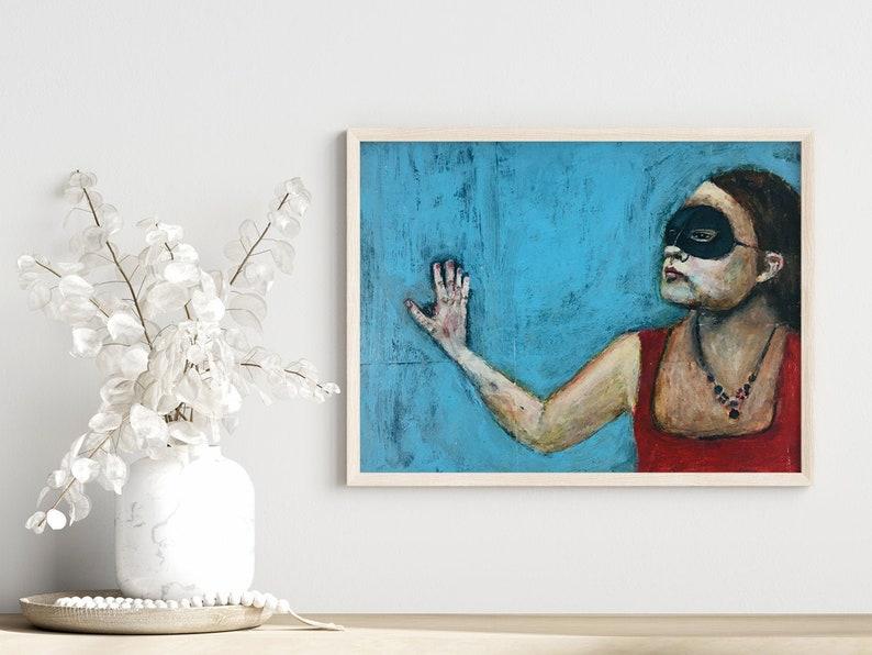 Masquerade Mask Unframed Portrait Painting Print image 0