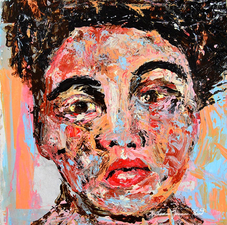 Custom Order  6x6 Palette Knife Portrait Painting From Photo image 0