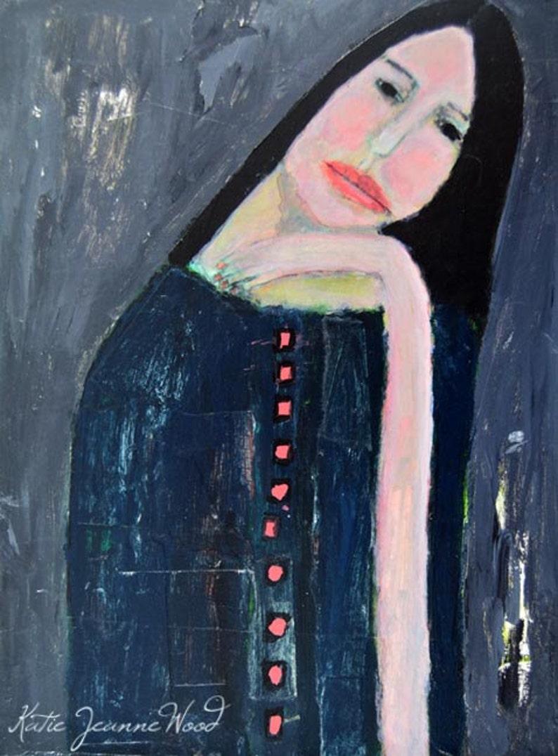 Sad Girl Painting Expressionism image 0