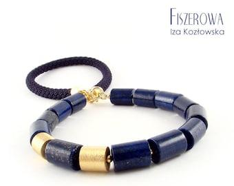 Lapis shine - necklace with lapis lazuli