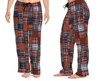 Multi Plaid Print Women's Pajama Bottoms