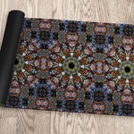 Boho Hippie Mandala Yoga Mat in a Rainbow of Psychedelic Colors, Non Skid Exercise Floor Accessory