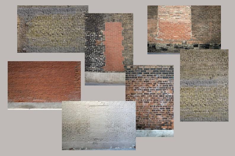 7 Old Grunge Toronto Brick Walls Vertical and Horizontal image 0