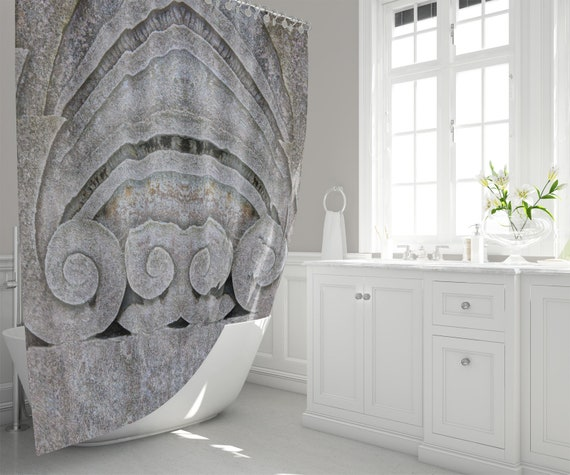 Ancient Rome Stone Architecture Shower Curtain Mirrored