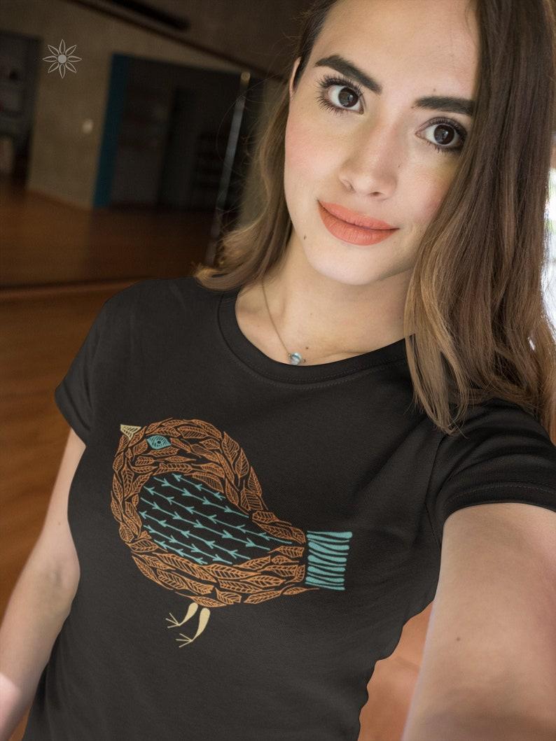 Boho Henna Bird Women's Organic Cotton T-Shirt S  XL image 0