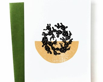 Cactus - Blank Greeting Card
