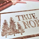 """2.5"""" x 4.5"""" logo stamp - custom order, RESERVED for Shelley from True North"""