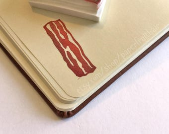 strip of bacon - hand carved stamp - NEW DESIGN!