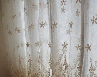 Bohemian Lace Fabric lot - 5.5 yards+ @ 15 per yard. Ivory Floral Bridal Lace