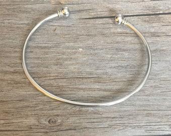 Cape Cod Bracelet, Bangle Bracelet, Cuff Bracelet, Adjustable Bracelet, Screw End, Charm Bracelet, Silver, Gold, Base Pieces, Charm Bar