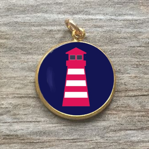 LIGHTHOUSE CHARM Nautical Charm Navy Charm Boating Cape