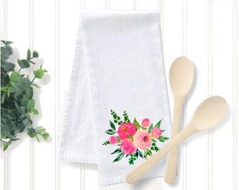 Rose Combo Tea Towel, Original Watercolor Artwork Print, The Good Life™ Collection