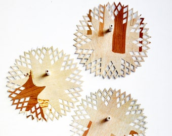 Woodsy Paper Doilies {6.0in} | Recycled Paper Doilies | Scrapbooking | Forest Tan Gift Wrap | Ecofriendly Gift Wrap | Embellishments