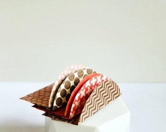 Mini Envelopes {5 w cards + seals} Mixed | Embossed Mini Envelopes | Mini Notesets | Pink Red Orange | Thanksgiving | Gift under 10
