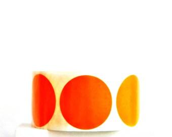 Orange Round Seals {20} 50mm Stickers | Envelope Seals | Orange Dot Stickers | Housewarming | Sweet 16 | Orange Gift Seals