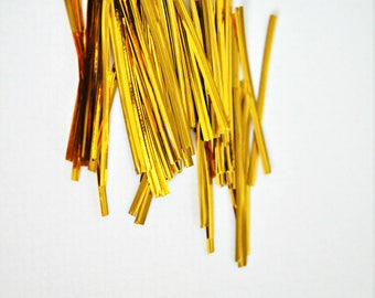 Gold Foil Twist Ties {100} | Gold Bread Ties | Homemade Treats | Holiday Gift Wrap | Sparkly Twist Ties | Sparkle Gift Wrap