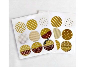 Pack of 70 Polka Dots Wedding Envelope Seals