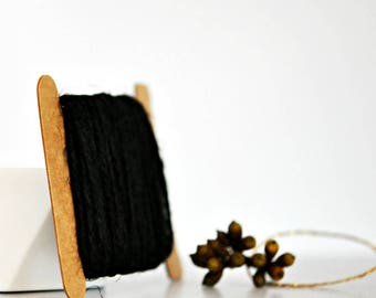 Chunky Black Twine {10.0m} | Chunky Twine | Black Twine | Rustic Black Twine | Christmas Twine | Holiday Twine | Black Jute Twine