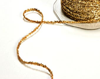 LAST Sparkly Gold Glitter Twine | Tinsel Twine | Gold Sparkly Twine | Glitter String | Glitter Ribbon | Christmas Twine  | Sparkly String