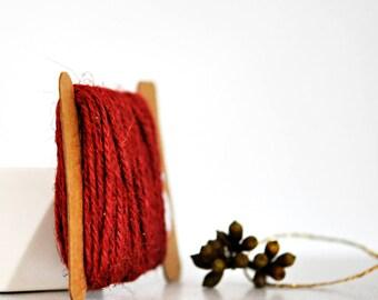 Chunky Rust Red Twine {10.0m} | Chunky Twine | Rust Red Twine | Rustic Red Twine | Christmas Twine | Holiday Twine | Red Jute Twine