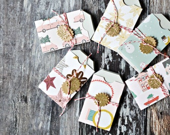 Mini Notecards {6w cards} | Christmas Notesets Set F | Mini Stationery | End of Year Gift | Christmas Mini Cards | Stocking Stuffer