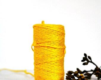 Chunky Bright Yellow Twine {10.0m}  | Jute Twine | Chunky Twine | Yellow Jute Twine | Rustic Yellow Twine | Neon Twine