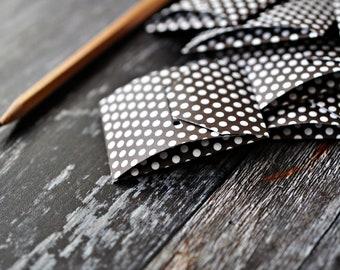 Mini Pillow Pockets {6w cards + seals} Black White Polka Dot Envelopes | Mini Coin Envelopes | Paper Gift under 10 | Mini Note Pockets