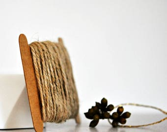 Chunky Natural Brown Twine {10.0m} | Chunky Jute Twine | Natural Jute Twine | Rustic Brown Twine | Holiday Twine | Christmas in July