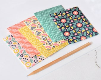 Mixed Print Envelopes {6w cards +seals} 4x3in Pattern Envelopes | Handmade Luxe Stationery | Assorted Print Envelopes | Spring Patterns