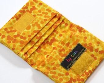Credit Card Wallet - Yellow Chromadots