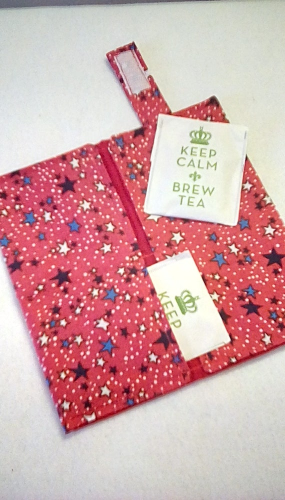 Tea Bag Wallet holds several tea bags /& sweeteners  Makes a Great Gift