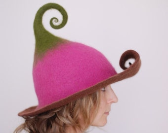 fe97c92a4776 Felted pixie hat