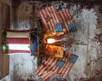 Primitive Americana Uncle Sam Hat ~ Candle Lamp Pattern