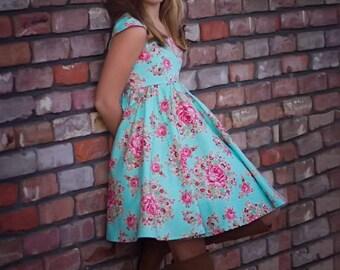 Minty Rose Dress