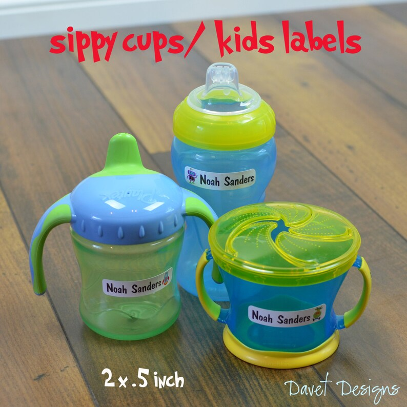Labels jars Sip003 Dishwasher Safe great for food containers 40 Trucks Waterproof Kid/'s Sippy Cup bottles or baby item lunch box