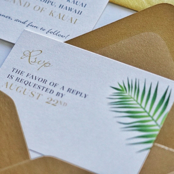 Includes Envelopes and Priority Mail Shipping Palm Beach Print Shop Invitations 5x7 Printed Invitations