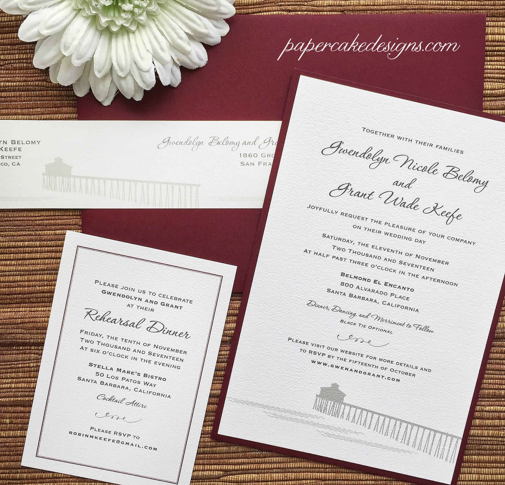 Modern Wedding Invitations / Custom Graphic Design and