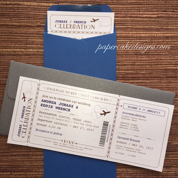 boarding pass airline ticket invitation diy printable pdf etsy