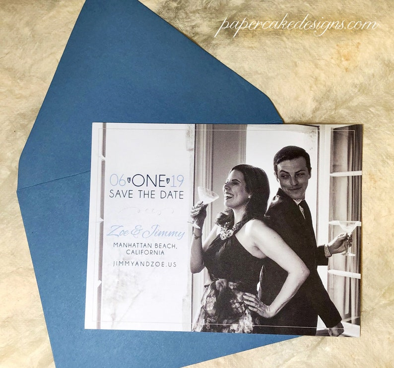 Wedding Save the Date Photograph / Postcard or Card with CARD w/ENV