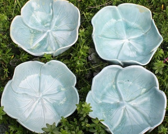 Rose Petal Blue Bowl Set of Four