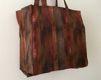 Wooden fence Tight 'n' Tidy Tote Bag, Wood grain eco bag, Foldable shopping bag, eco bag, Colorful wood fence design market tote