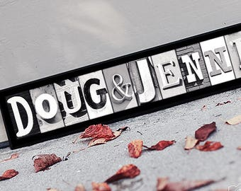 30 Inch Wood Sign Personalized Name Custom Wood Plaque with Alphabet Photo Letters
