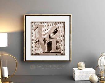 Gold LOVE Letters | Metallic Wedding Print | Gilver Love Letters | Romantic Wedding Art |  Philadelphia Architecture | 8x10 Photograph