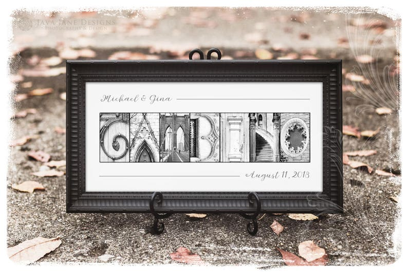 Your Name in Architecture Photo Letters  Custom Framed image 0