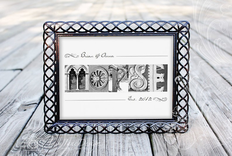 Personalized Alphabet Art Photography  Bride and Groom Last image 0