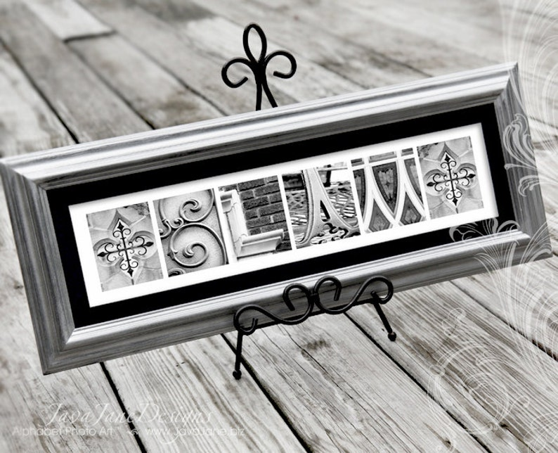 Silver Wedding Frame Name Silver Anniversary Framed Name image 0