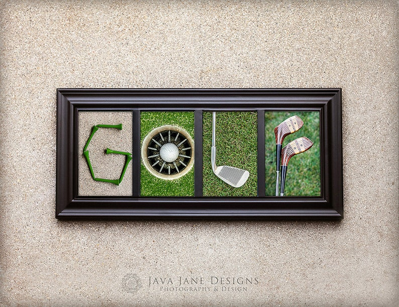 GOLF Letter 4x6  Gift for Him  Stocking Stuffer for Boy  image 0