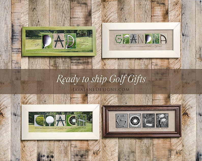 Golf Art for Father's Day Gift  Dad Grandpa Coach Golf image 0