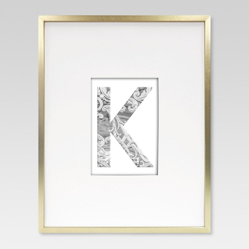 Farmhouse Letters Family Name  Printable Letters  White and image 0