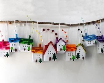 Ornamenti di decorazione della casa set di otto case di etsy for Ornamenti casa